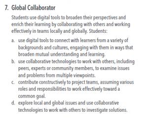 ISTE Standard #7 Global Collaborators